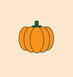 pumpkin icon autumn harvest concept vector image