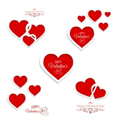 set of hearts for Valentines Day vector image vector image