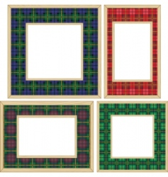 Set of the wooden frames vector