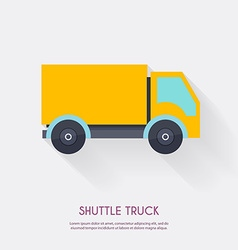 Shuttle truck warehouse icons logistic blank and vector