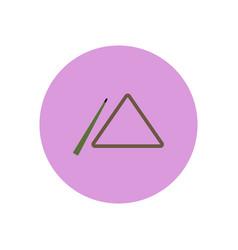Stylish icon in color circle billiard cue and vector