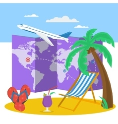 Travel time at summer concept vector image