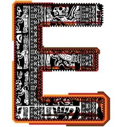 Incas font vector image