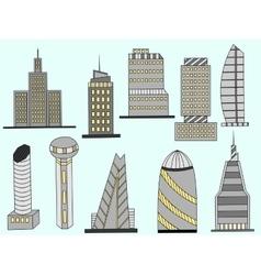 Tall buildings vector