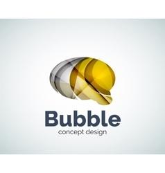 Bubble logo template vector image
