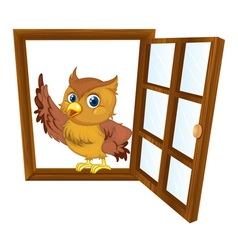 bird in a window vector image