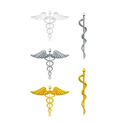 Caduceus set vector