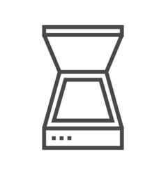 Scanner line icon vector