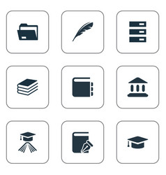 Set of simple knowledge icons vector
