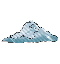 Drawing cloud climate weather cold vector