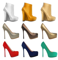 set of womens shoes vector image