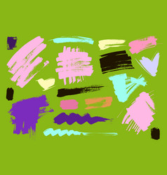 Color grungy abstract hand-painted vector