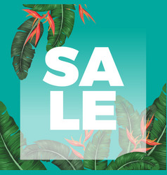 Thick sale sign on promotional banner with exotic vector