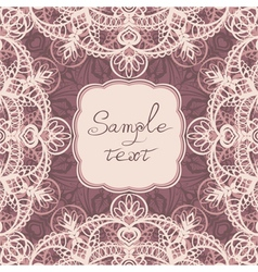Square frame with lace vector