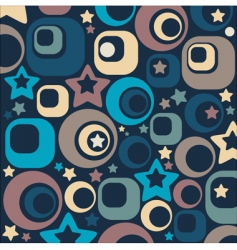 stars and circles vector image