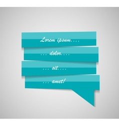 Speech bubble template vector