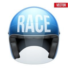 High quality racing motorcycle helmet vector