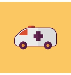Ambulance transportation flat icon vector