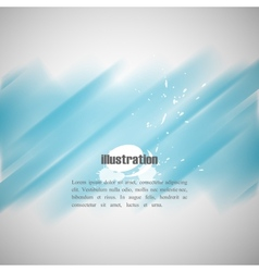 Abstract blue background with blurred watercolor vector