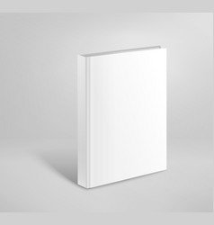 3d blank hardcover book mockup paper book template vector image vector image