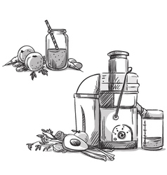 Juicing machine vector
