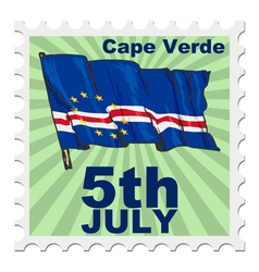 national day of Cape Verde vector image