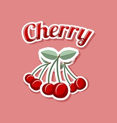 Retro cherry vector
