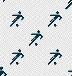 Football player icon seamless abstract background vector
