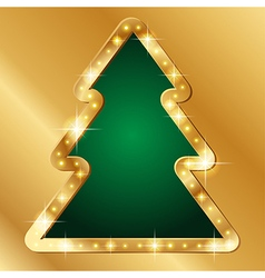 Flash banner christmas tree vector