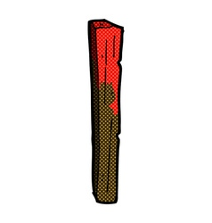 Comic cartoon bloody wooden post vector