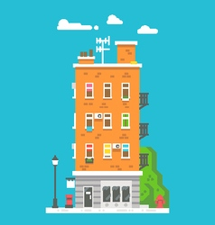 Flat design european colorful apartment vector