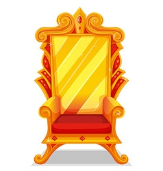 Throne made of gold vector
