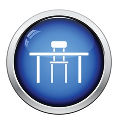 Table and chair icon vector