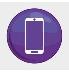 Smartphone button icon social media design vector