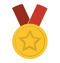 Medal star champion winner vector