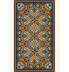 Oriental design in frame for carpet vector