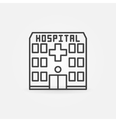 Hospital building icon vector