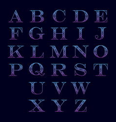 Alphabet with ornament vector