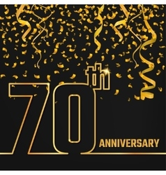Anniversary Outline gold A vector image