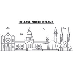 Belfast north ireland architecture line skyline vector