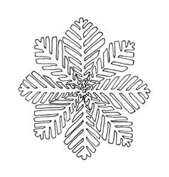 Black mono color with snoflake vector