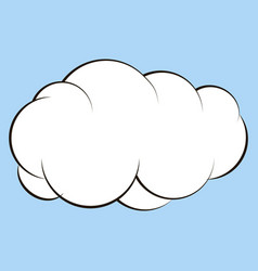 cartoon cloud for comics sketch vector image vector image
