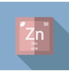 Chemical element zinc flat vector