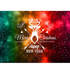 Christmas Vintage Blurred Background with vector image vector image