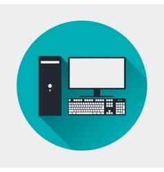Computer icon pc symbol vector