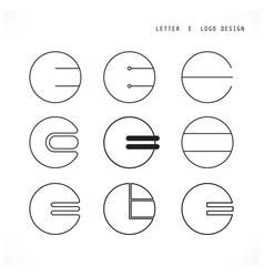 Creative letter e icon abstract logo design vector