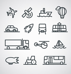 Different transport icons collection clip-art vector image vector image
