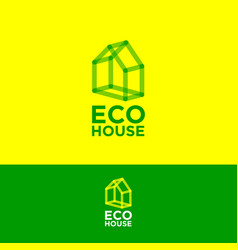 ecohouse logo construction logo real estate emblem vector image