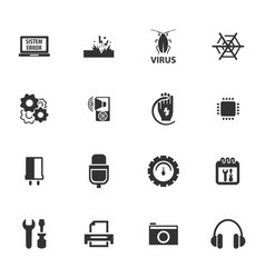 electronics repair icons set vector image