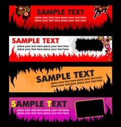 flame banners vector image